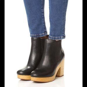 Madewell wood heeled Chelsea ankle boot- RARE